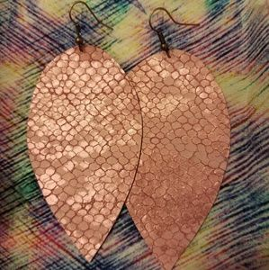 Jewelry - 4 FOR $25 GENUINE LEATHER EARRINGS!